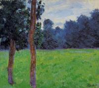 Claude Monet - Два дерева на лугу