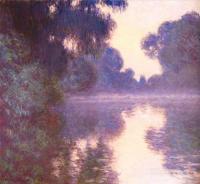 Claude Monet - Туманное синее утро над Сеной