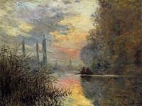 Моне Клод (Claude Monet) - Вечер В Аржантёе