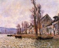 Claude Monet - Излучина Сены, Лавакурт, зима
