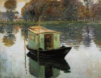 речной пейзаж < Лодка-студия >:: Клод Моне ( Claude Monet )