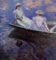 Моне Клод (Claude Monet) - Девушки в голубой шлюпке