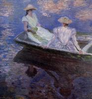 Claude Monet - Девушки в голубой шлюпке