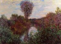 Моне Клод (Claude Monet) - Малый рукав Сены в Моссо