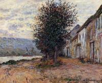 Claude Monet - Берег Сены в Лавакуре