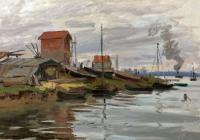 Claude Monet - Сена, Пти-Женвилье