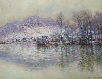 Моне Клод (Claude Monet) - Сена, заснеженный Порт Вилле