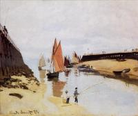 Моне Клод (Claude Monet) - Вход в порт Трувиль