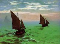 Моне Клод (Claude Monet) - Рыбацкие лодки в море