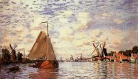 Моне Клод (Claude Monet) - Вид на Зандам
