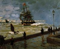 Claude Monet - Пристань в Гавре, непогода