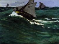 Моне Клод (Claude Monet) - Зелёная волна