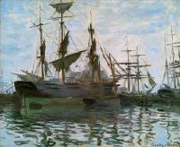 Claude Monet - Лодки, штудия (Корабли в гавани)