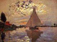 Claude Monet - Парусник в Пти-Женневье
