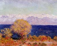Claude Monet - Вид на вершины Альп. Антиб