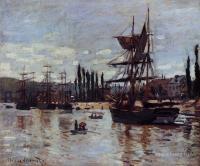 Море в живописи ( морские пейзажи, seascapes ) - Лодки близ Руана