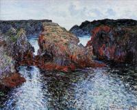 Моне Клод (Claude Monet) - Скалы в Порт-Гульфар