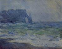 Claude Monet - Этрета под дождём