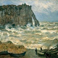 Claude Monet - Этрета, бурное море