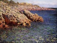 Моне Клод (Claude Monet) - Камни на берегу Средиземного моря