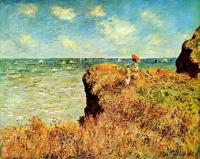 Claude Monet - Прогулка по скалам, Пурвилль
