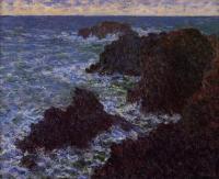 Claude Monet - Скалы в Бель-Иль, Кот-Соват