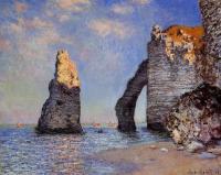 Моне Клод (Claude Monet) - Камень-игла и порт д'Аваль