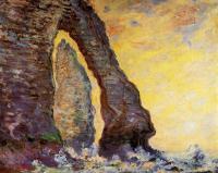 Моне Клод (Claude Monet) - Камень-игла, вид сквозь Порт д'Аваль