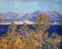 Моне Клод (Claude Monet) - Антиб, вид с мыса, ветер мистраль