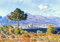 Моне Клод (Claude Monet) - Вид на Антиб с плато Нотр-Дам