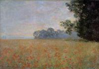 поле маков < Овёс и маковое поле >:: Клод Моне ( Claude Monet )