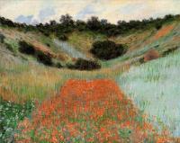Моне Клод (Claude Monet) - Маковое поле в ложбинке близ Живерни