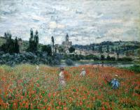 Моне Клод (Claude Monet) - Маковое поле близ Ветёя