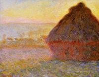 Моне Клод (Claude Monet) - Стог сена на закате