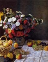 Моне Клод (Claude Monet) - Цветы и фрукты
