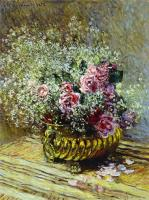 Claude Monet - Цветы в вазе