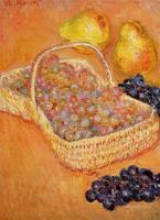Claude Monet - Корзина с виноградом, айва и груши