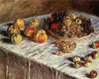 Моне Клод (Claude Monet) - Натюрморт - яблоки и виноград