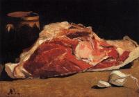 Моне Клод (Claude Monet) - Натюрморт с мясом