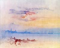 William Turner - Венеция, вид восточнее острова Джудекка, восход солнца