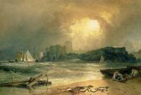 картина  Замок Пемброк, Южный Уэльс - шум приближающегося шторма :: Уильям Тёрнер ( William Turner )