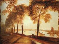 картина  Мортлейк-террас, поместье У. Моффатта. Летний вечер  :: Уильям Тёрнер ( William Turner )