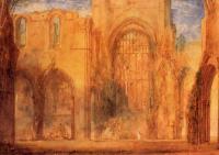 картина  интерьер аббатства, Йоркшир :: Уильям Тёрнер ( William Turner )