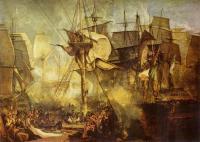 Тёрнер Уйльям - Трафальгарское сражение, вид с вантов бизань-мачты по правому борту корабля 'Виктори'