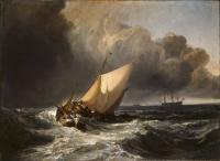 картина  Голландские рыбачьи лодки, застигнутые бурей :: Уильям Тёрнер ( William Turner )