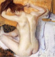 картина Женщина за туалетом :: Эдгар Дега