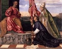 Tiziano Veccellio (Тициан) - Папа Александр VI представляет Якопо Пезаро Святому Петру