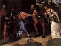 Tiziano Veccellio - Христос и неверная супруга