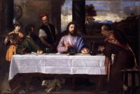 Tiziano Veccellio - Ужин в Эммаусе