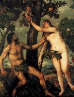Tiziano Veccellio - Адам и Ева